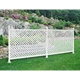 Amazon Com 3 Ft X 8 Ft White Vinyl Fence Standard Starter Kit Frame Only Garden Outdoor