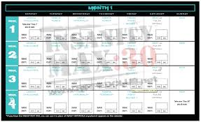 insanity max 30 workout schedule life
