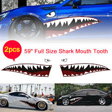 2 Diy Shark Mouth Tooth Teeth Graphics Pvc Car Sticker Decal For Car Waterproof Car Stickers Aliexpress