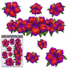 Large Red Hibiscus Flower Hawaiian Decal Vinyl Car Sticker Etsy