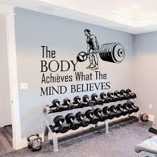 Shop Gym Inspirational Quote Vinyl Sticker Wall Art Overstock 10425650