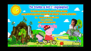 Invitacion Animada Virtual De La Peppa Pig Invitacion En Video