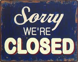 Image result for free images closed sign