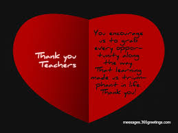 thank you messages for teachers greetings com