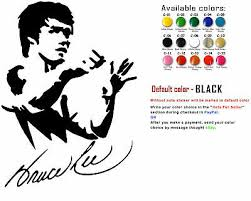 Bruce Lee Vinyl Decal Sticker Car Window Laptop Fighter Legend Usa Seller 3 99 Picclick