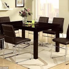 casual dining set high gloss black