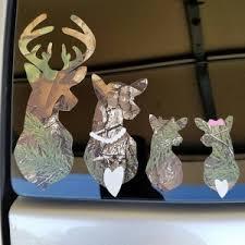 Realtree Xtra Green Camo Camouflage Deer Family Car Window Etsy