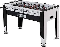 Amazon Com Espn Soccer Foosball Table Balls Set For Adults Kids Arcade Football Game Room Furniture 54 In White Black Sports Outdoors
