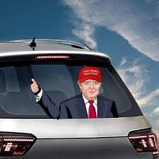 Amazon Com Miysneirn Rear Window Wiper Decal Donald Trump Accessories 3d Rear Wiper Swing Waving Window Emblem Sign Vinyl Funny Vehicle Decorations Usa Make America Great Again Arts Crafts Sewing