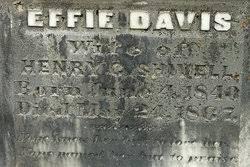 Effie Davis Shivell (1840-1867) - Find A Grave Memorial