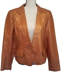 metro style gold bronze leather jacket