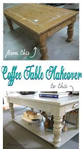 coffee table makeover with added lower
