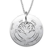 personalised mum jewellery family