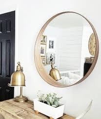 beautiful round mirror stockholm