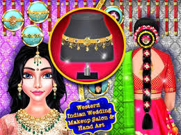 western indian wedding makeup salon and