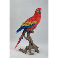 hi line gift ltd macaw statue color