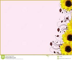 Girasoles De La Esquina Florales Del Diseno Stock De Ilustracion