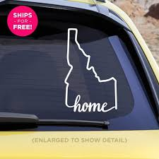 Idaho State Home Decal Id Home Car Vinyl Sticker Etsy