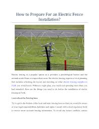 How To Prepare For An Electric Fence Installation Authorstream