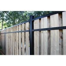 Slipfence 4 Ft X 6 Ft Wood And Aluminum Fence Gate Sf2 Gk100 The Home Depot Backyard Fences Aluminum Fence Fence Design