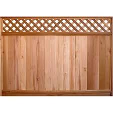 Top Choice 6 Ft H X 8 Ft W Redwood Lattice Top Fence Panel In The Wood Fence Panels Department At Lowes Com
