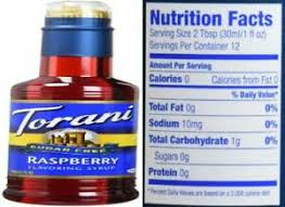 torani sugar free raspberry syrup 12 7