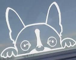Dex B Boston Terrier Window Decal 8 Inch Customstickershop On Artfire