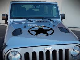 Decal Sticker Vinyl Hood Star Compatible With Jeep Wrangler Jk Unlimited Rubicon Sahara Sport S Ultimateprocy