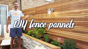 How To Make Diy Cedar Fence Panels With Built In Lights The Diy Tribe Youtube