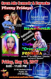 Pfunny Pfridays Comedy/Karaoke 05/12/2017 Pueblo, Colorado, The Spotlight  Bar - Music Event | Chieftain Events