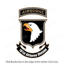 Army 101st Airborne Division Screaming Eagles Sticker Decal