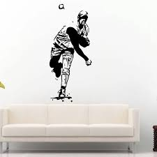 Baseball Sticker Car Decal Sports Posters Home Decoration Vinyl Wall Decals Decor Mural Baseball Wall Decal Sticker Guy Stickers Musicstickers Fly Aliexpress