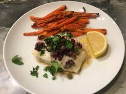 Broiled Cod with Lemon Olive Caper ...