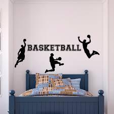 Basketball Wall Decal Sports Wall Vinyl Stickers Basketball Player Decal Kids Boy Room Wall Art Basketball Vinyl Mural Yo 29 Basketball Wall Decal Boys Roombasketball Wall Aliexpress