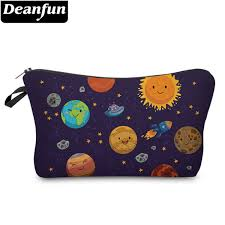 deanfun 3d printed cosmetic bags planet