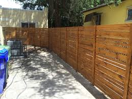 Horizontal Wood Fence Modern Miami By South Florida Fabrication And Fencing