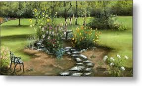 garden metal print by cecilia brendel