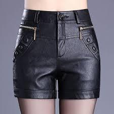 plus size 6xl leather shorts women