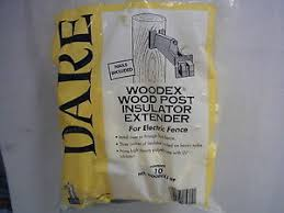 Dare Woodex Wood Post Extender Insulator For Electric Fence 10pk Wood Post 3892319151 Ebay