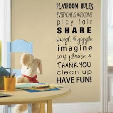 Playroom Rules Wall Decal Quotes Letter Wall Sticker Kids Room Nuresry Decoration Removable Playroom Rule Wall Art Mural Ay1612 Wall Stickers Aliexpress