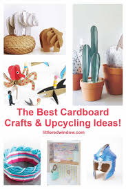 diy cardboard crafts upcycling ideas