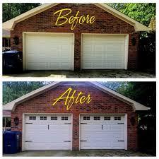 Craftsman Style Faux Garage Door Windows Vinyl Decals No Etsy