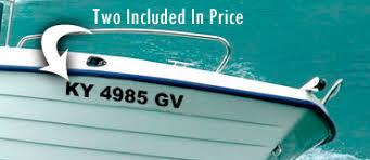 Custom Boat Registration Numbers Boatdecals Biz