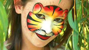 tiger face painting mask tutorial