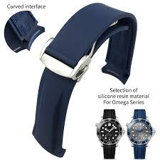 21mm 22mm rubber silicone watch bands