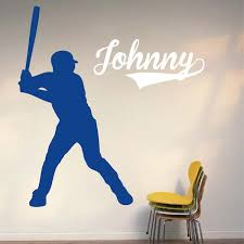 Baseball Player Wall Decal Trendy Wall Designs