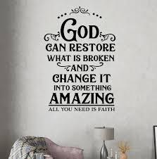 Winston Porter God Can Restore What Is Broken Wall Decal Wayfair