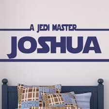 Star Wars Jedi Master Kids Teen Wall Decals Alphabet Garden Decals Modern Sticker Co
