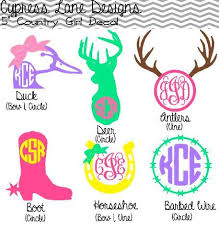 Pin By Ellie Powell On Craftiness Country Girl Decal Girl Decals Silhouette Monogram