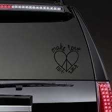 Make Love Not War Hippie Sticker